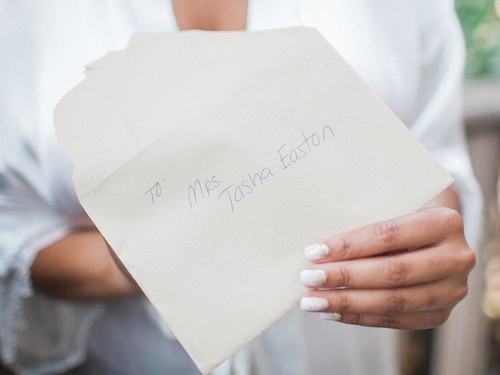 los altos lutheran same-sex wedding tasha opening envelope