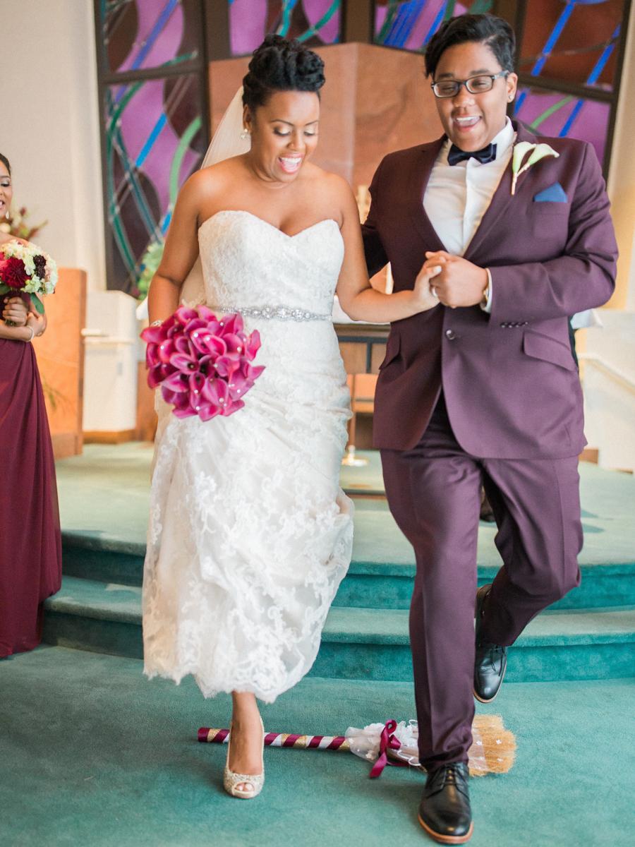 los altos lutheran same-sex wedding broom jumping ceremony