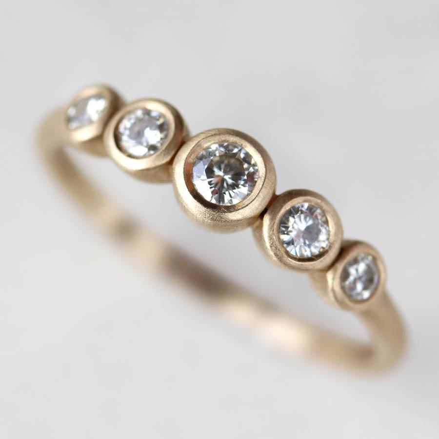 Five Stone Ring by Aide-mémoire Jewelry
