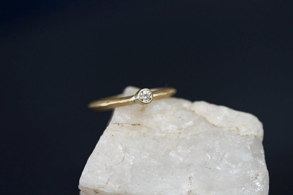 Diamond Ridge Engagement Ring by Rebecca Mir Grady
