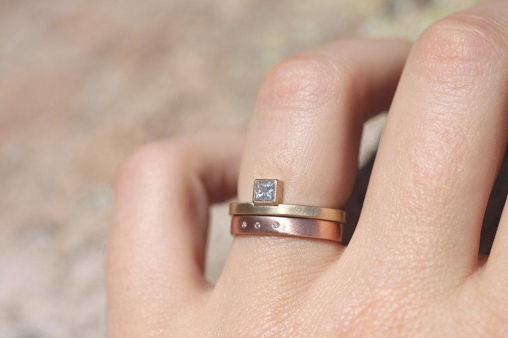 Alexandrine Diamond Engagement Ring by Rebecca Mir Grady