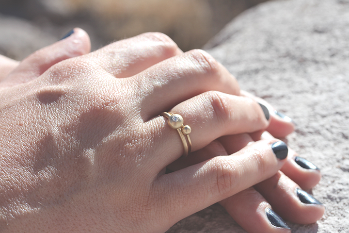 Orb Diamond Engagement Ring by Rebecca Mir Grady