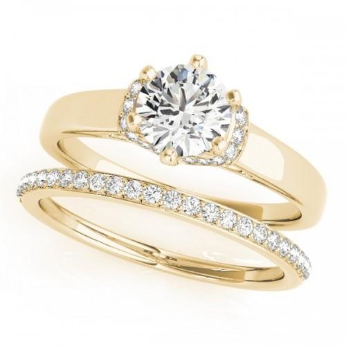 Chevron Wedding Set by Clean Origin Jewelry