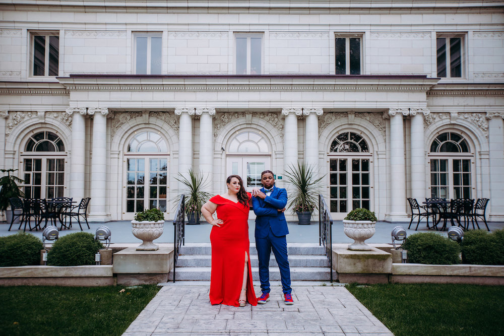Alysse and Gio's Glam Wedding Engagement Session at the Akron Art Museum