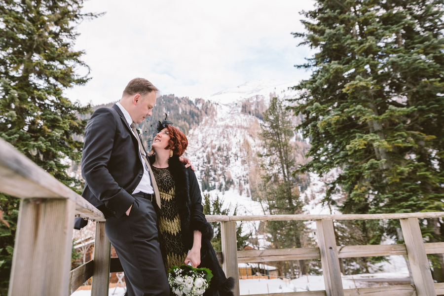 Elissa and Ralf's 1920s wedding at the Museum Restaurant in Austria