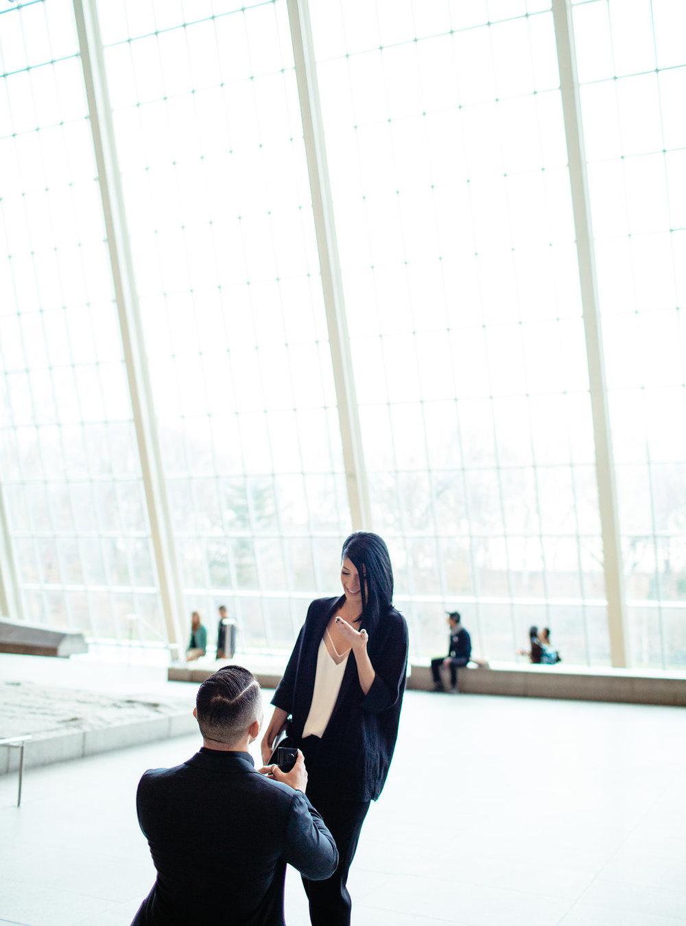 Tomasz and Jessica's surprise wedding proposal at the Metropolitan Museum of Art