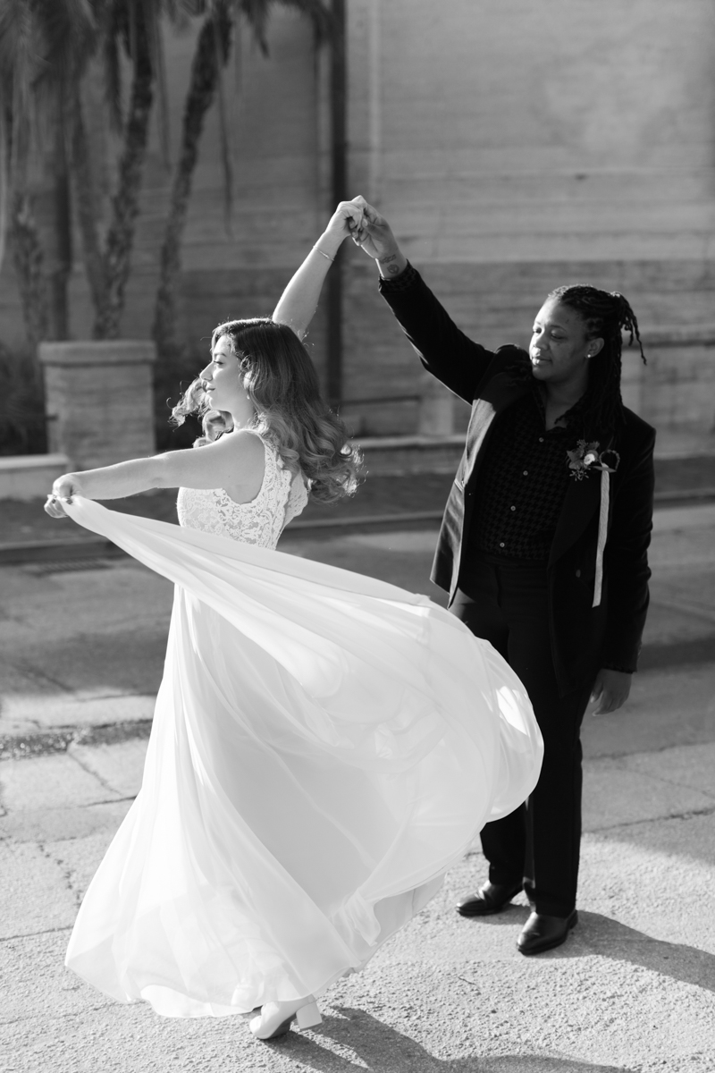 Allie and Ywanarai's wedding at the Lightner Museum in St Augustine Florida