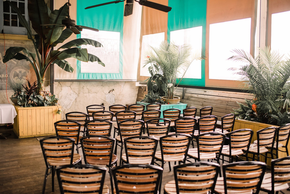 intimate wedding richmond virginia empty chairs in sunny room havana 59