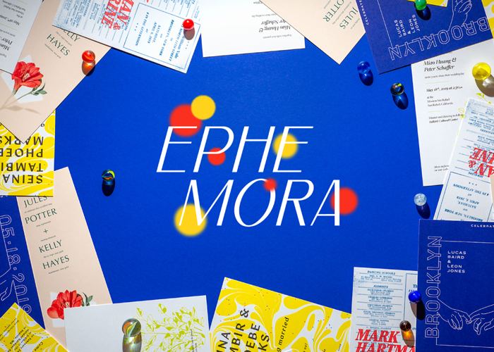 ephemora limited edition wedding invitations from NYC