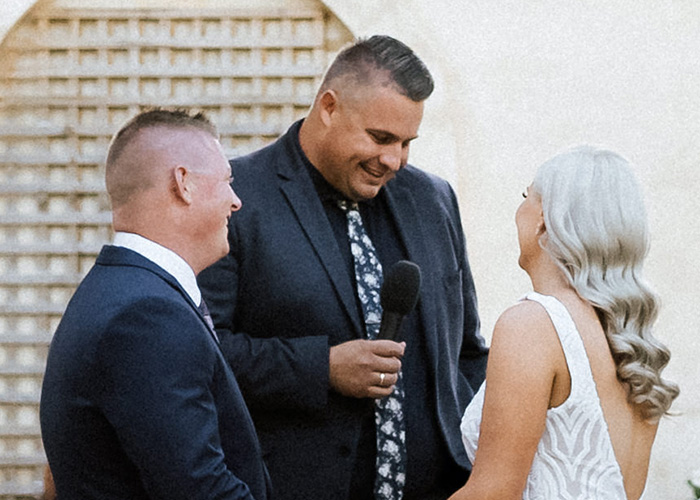 Josh Withers Officiating a wedding in Australia