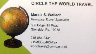 Marcia Wallach Circle the World Travel