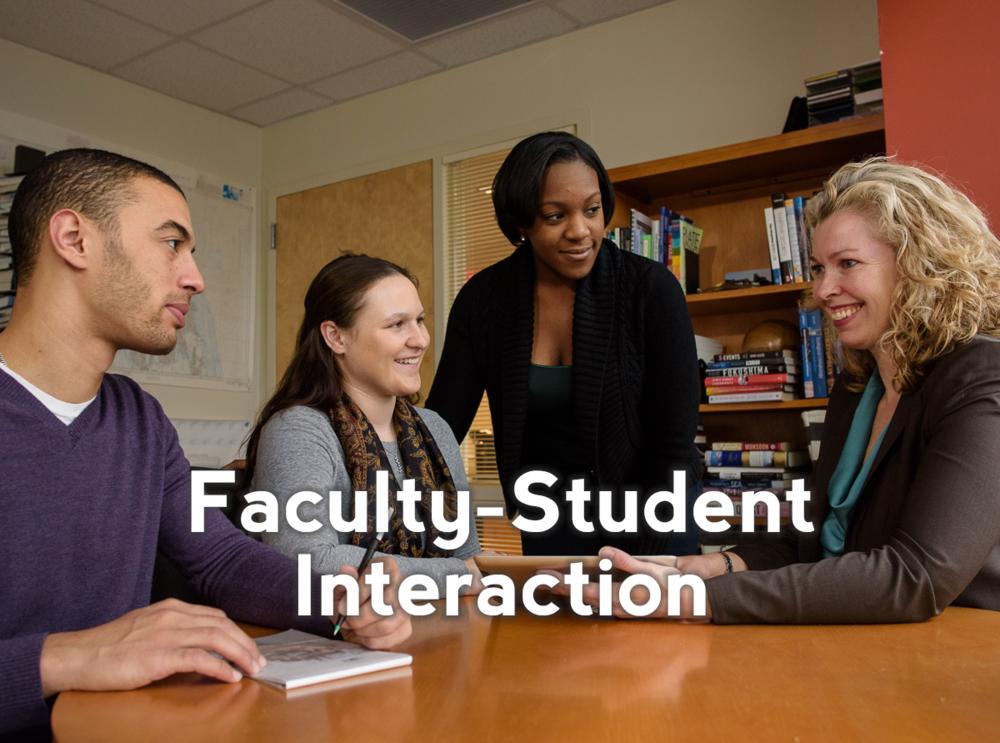 Increase faculty approachability to encourage students to participate more fully with Faculty-Student Interaction (FSI). Click here to learn about the research behind why Faculty-Student Interaction works to retain students.