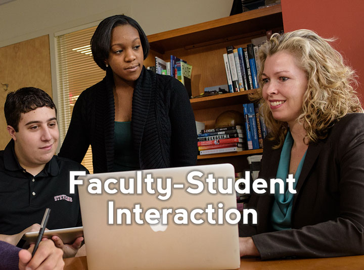 Increase faculty approachability and encourage students to participate more fully with Faculty-Student Interaction (FSI). Click here to learn about the research behind why Faculty-Student Interaction works to retain students.