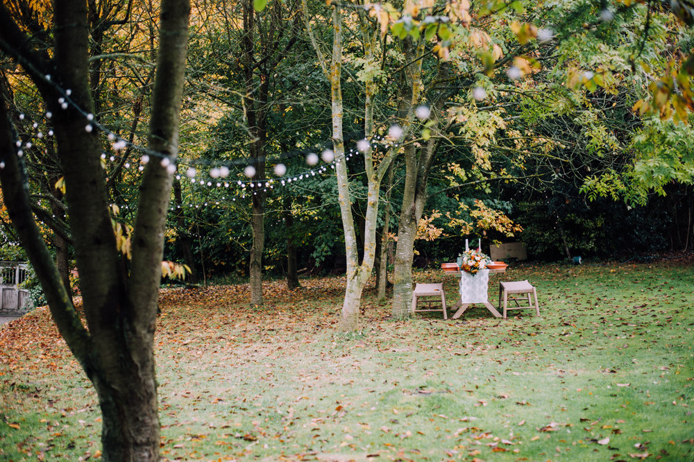 Festoons and the tablescape at The Copse.