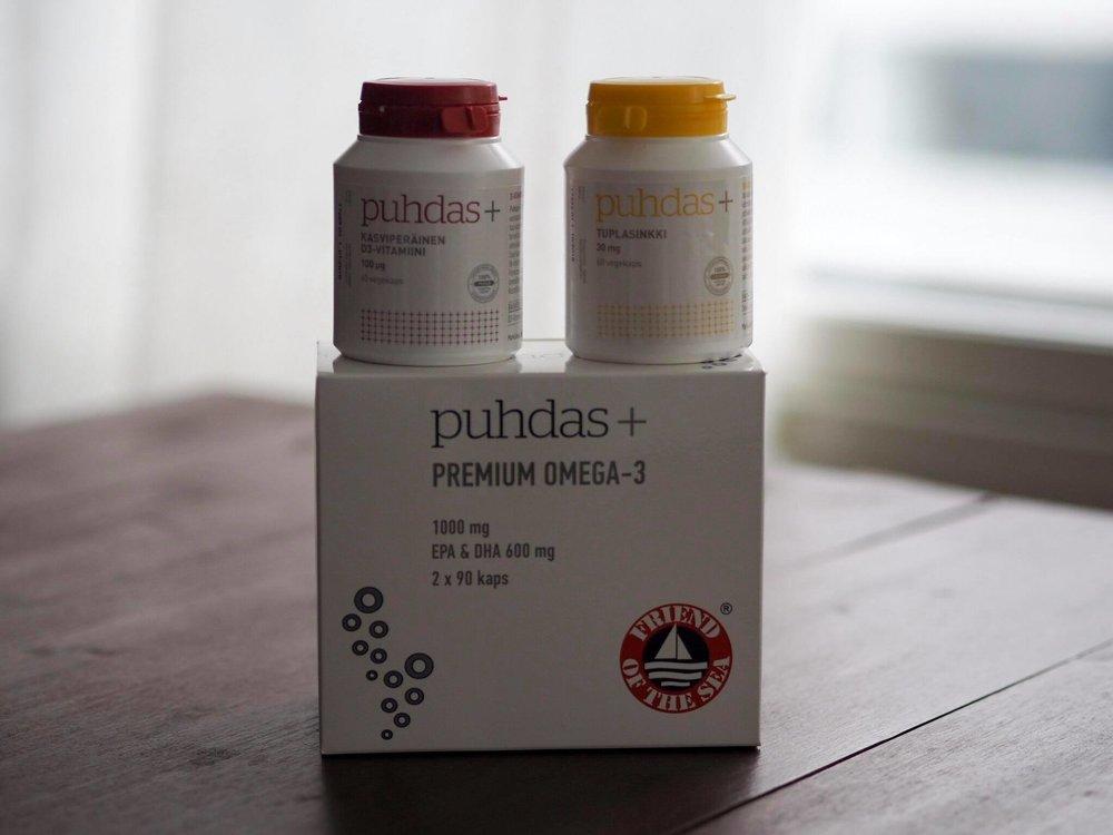 D-vitamiini kannattaa ehdottomasti ottaa lisänä purkista, sen riittävä saanti on raskausaikana ja etenkin Suomen olosuhteissa muuten vaikeaa. Kotimaisen Puhdas + merkin lisäravinteet ovat säilöntä- ja täyteaineettomia, löydät ne luontaistuotekaupoista tai   verkkokaupasta!