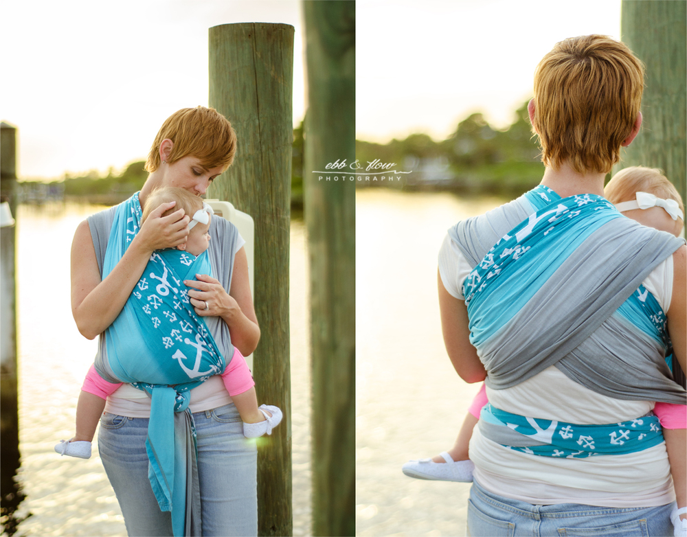 Wrapsody Harbor wrap - nautical theme photo session - Babywearing Photography // Ebb and Flow Photography