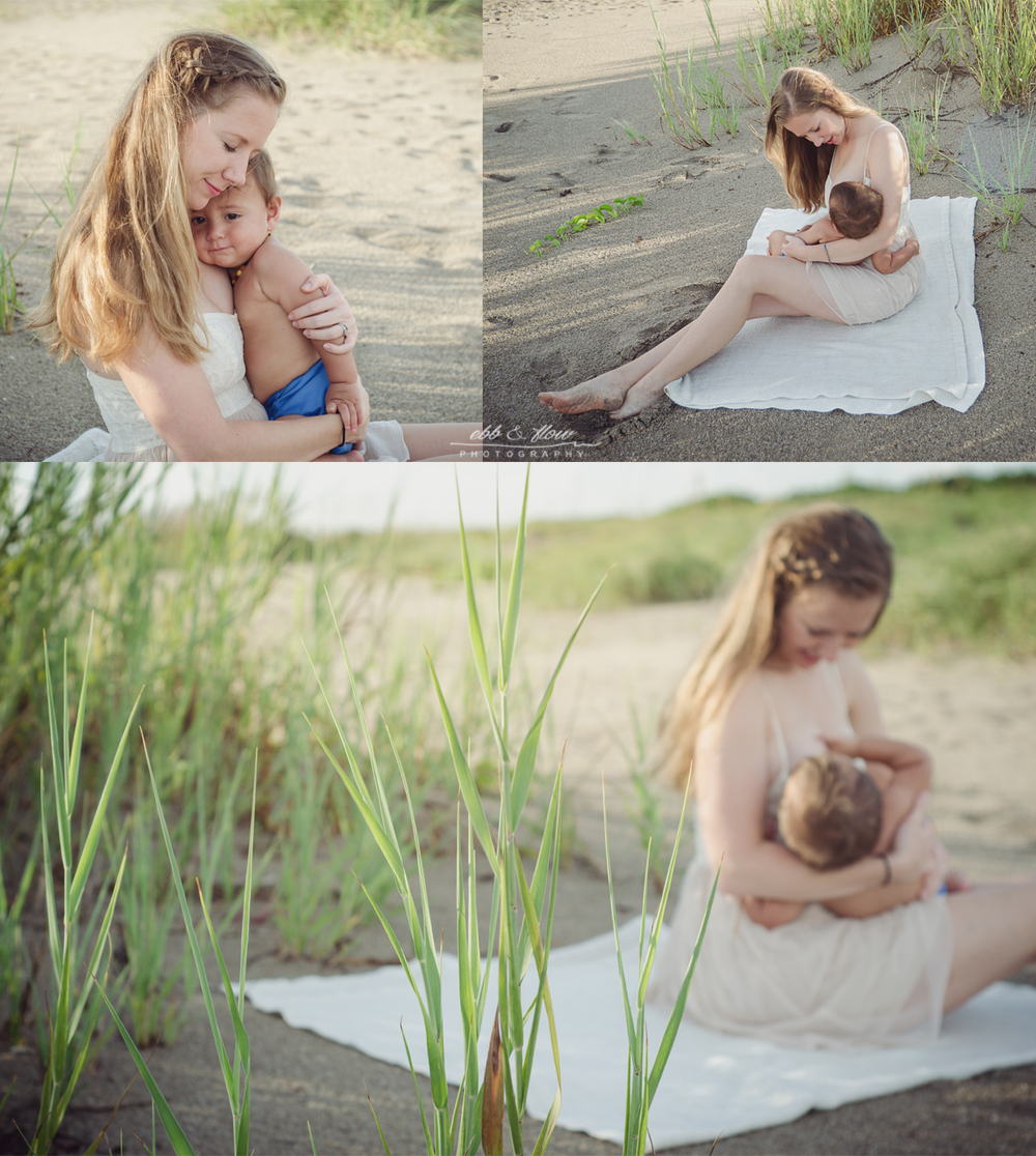 Breastfeeding at the Beach // Ebb and Flow Photography // #jabonetemonth
