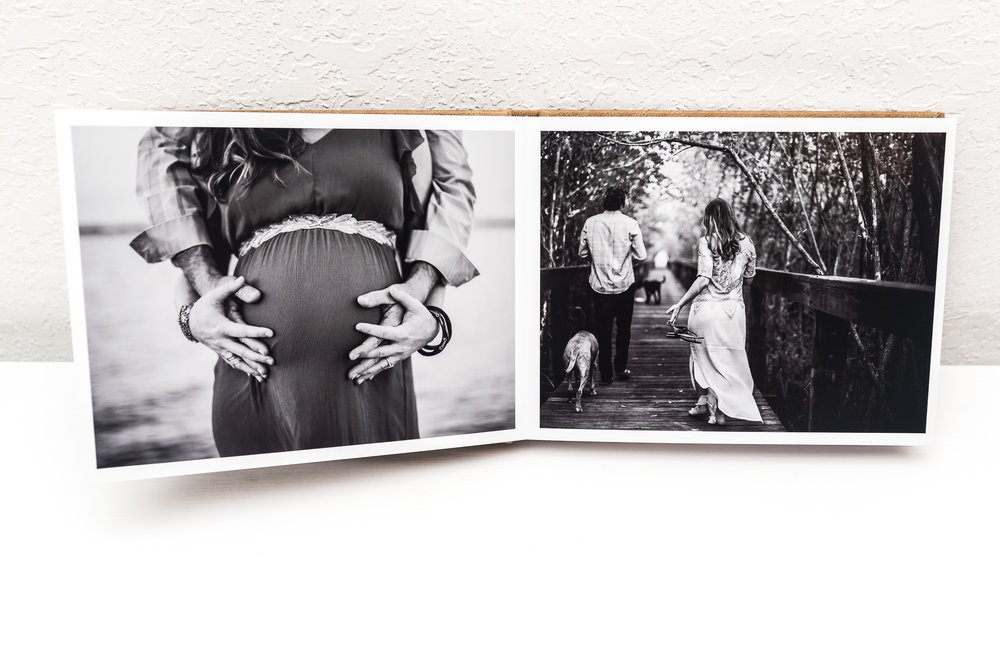 millers signature album - a birth story - ebb and flow photography