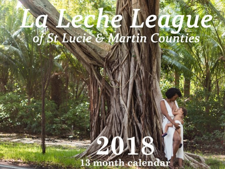 LLL of the TC 2018 calendar - Treasure Coast Breastfeeding Photographer - Ebb and Flow Photography