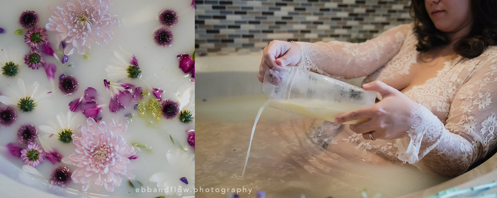 Using the Last of the Donor Milk - a Special Milk Bath Session - Ebb and Flow Photography