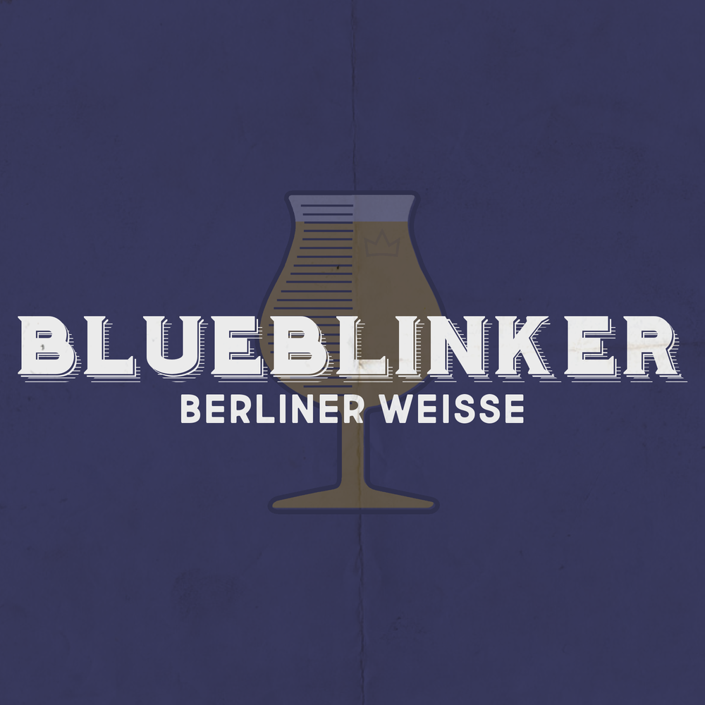 BLUE BLINKER Berliner Weisse - Style: Berliner WeisseAlcohol by Volume: …Glassware: TulipMalt: Pilsner, Wheat, Raw WheatSpecial Ingredients: BlueberriesNotes: Clean and light with a tart punch. Sessionable for all day enjoyment.