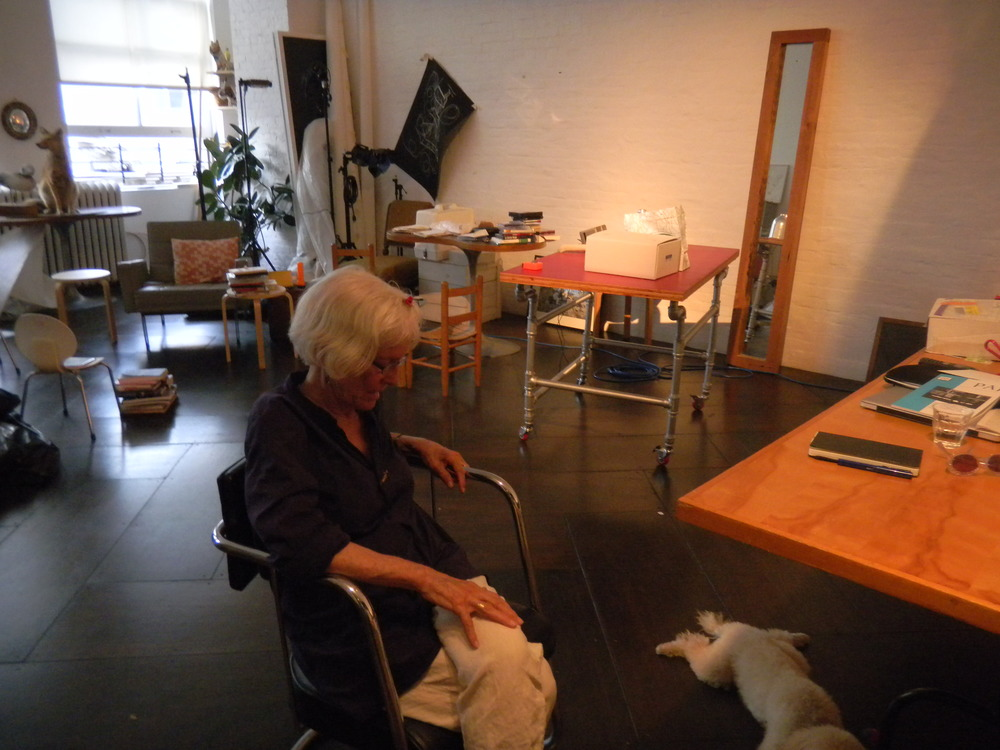 Interviewing Joan Jonas in her studio