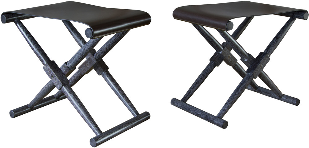 Matthiessen Stools with dark chocolate seats