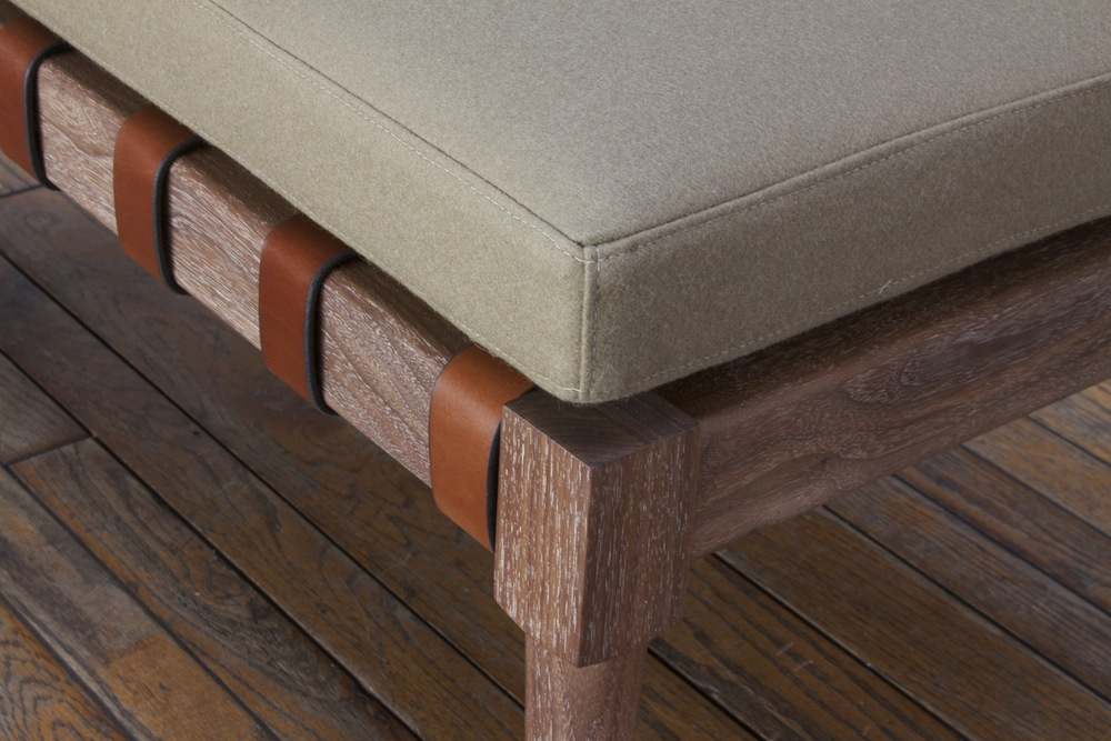 Jasper Bench in walnut - limed and oiled