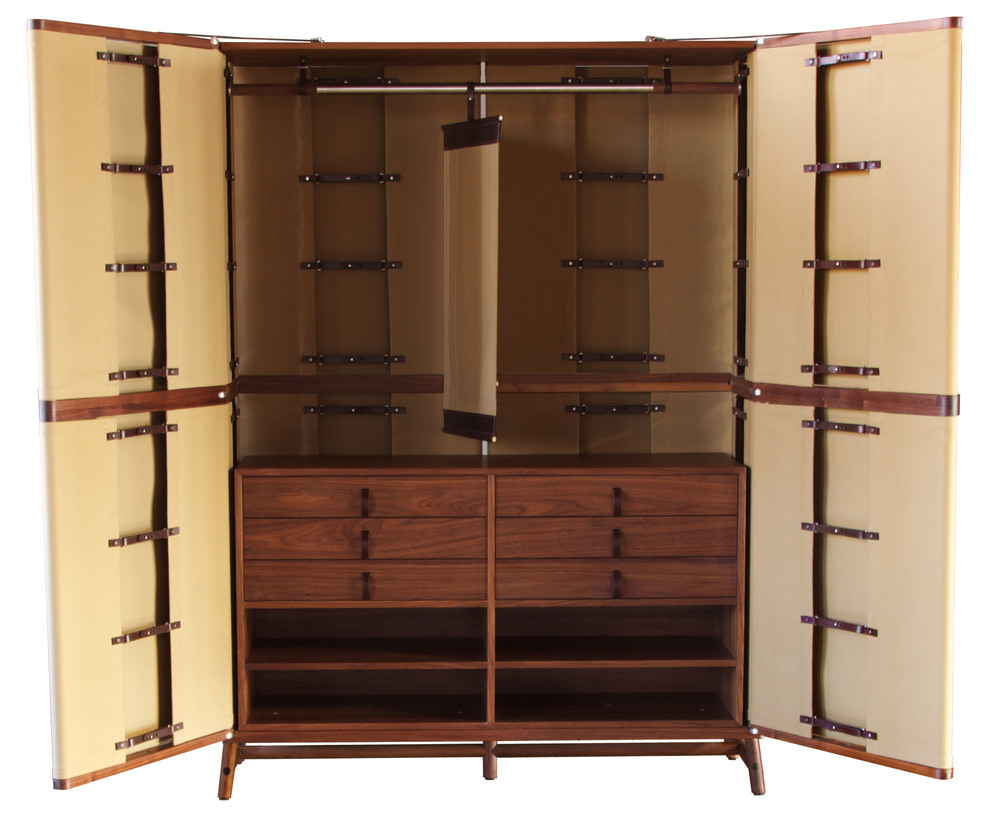 Lambert Armoire with havana straps