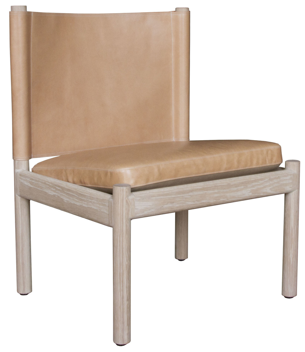 Reed Chair  Natural finished white oak with Moore & Giles Diablo: cane leather