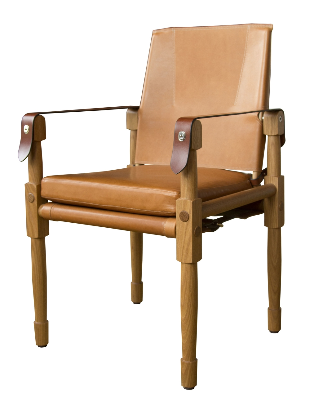 Oiled white oak with matte finish, Valhalla: nutmeg and saddle English bridle leather strapping  02