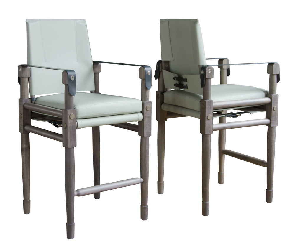 Chatwin Counter Chair in Steel Grey Maple