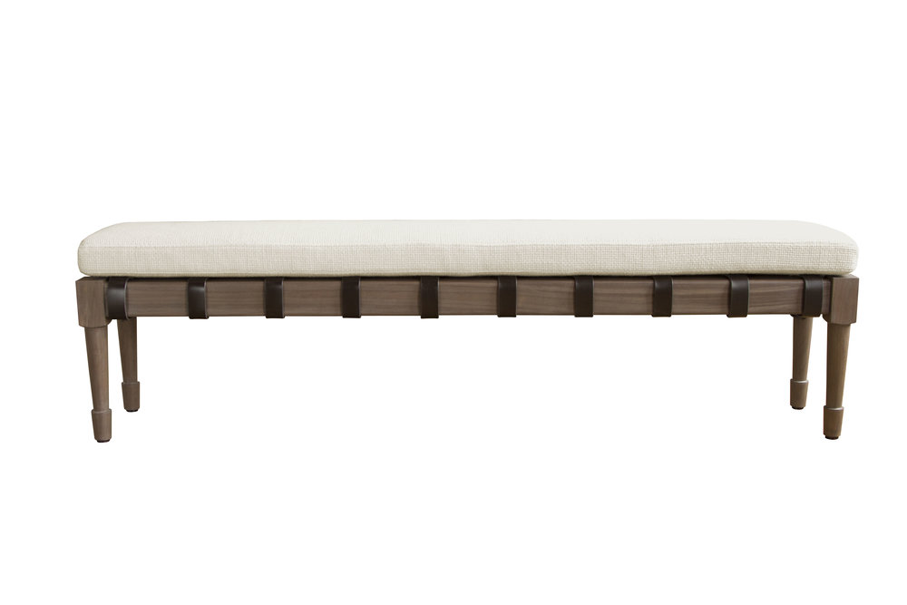 Jasper bench in silver grey walnut