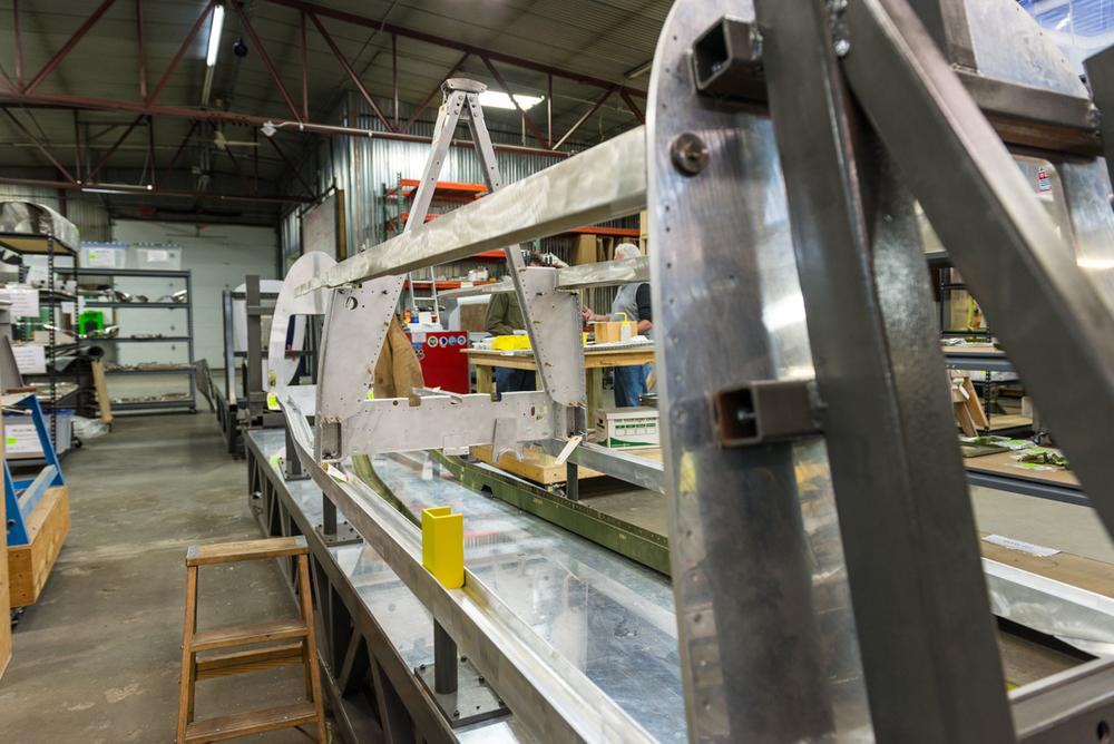 Lope's Hope II fuselage taking shape in the jig