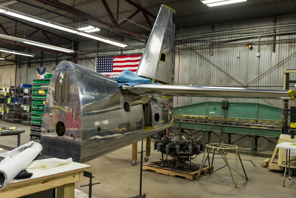 Fuselage assembly, rear!