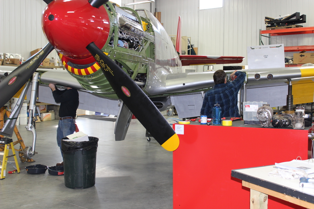 hard at work on the P-51C.JPG