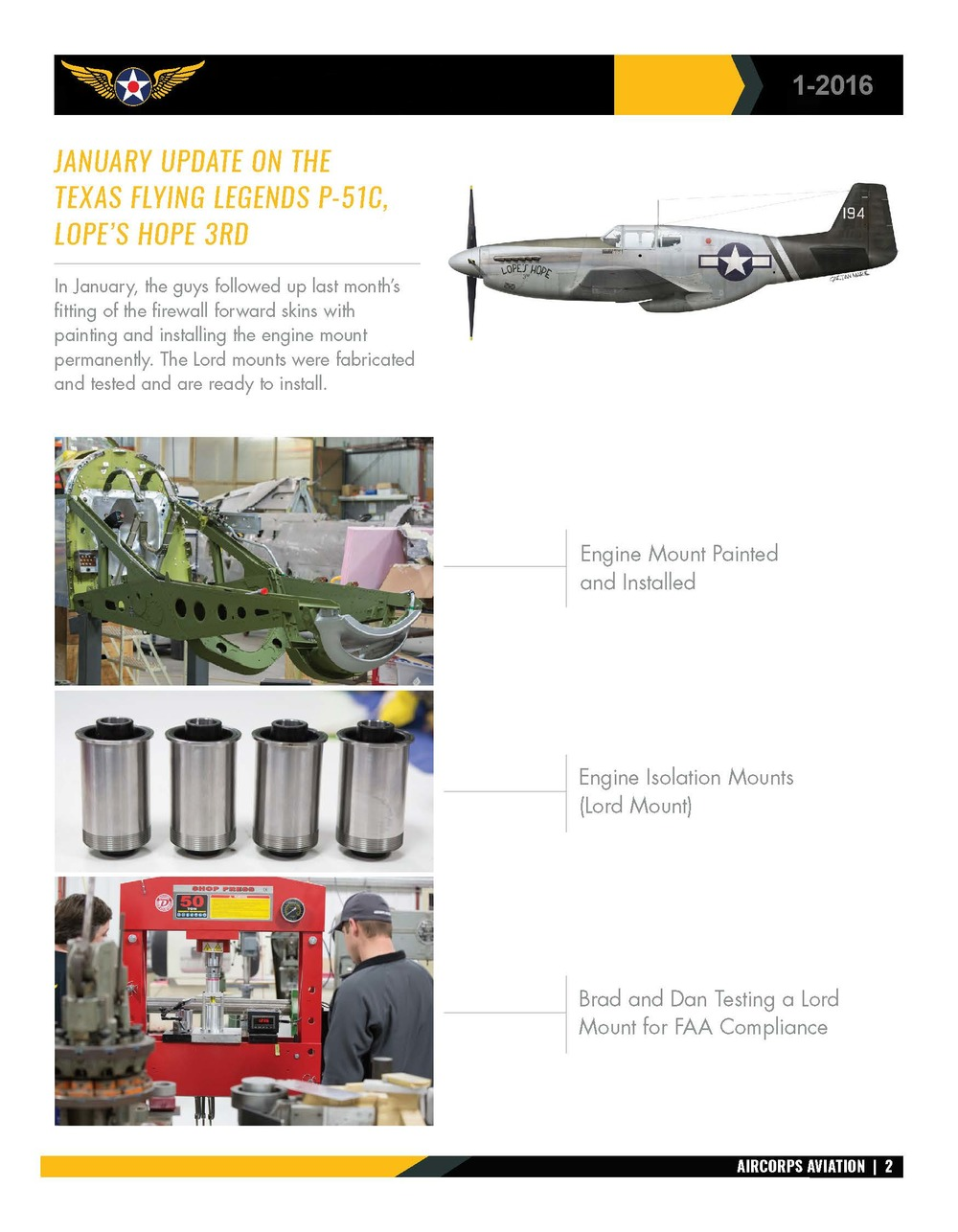 AirCorps Aviation Lope's Hope Mustang Update Page 2