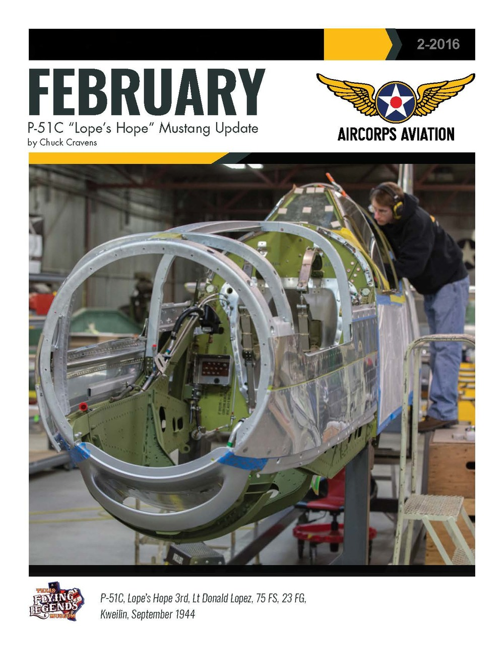 "February - P-51C ""Lope's Hope"" Mustang Update page 1"