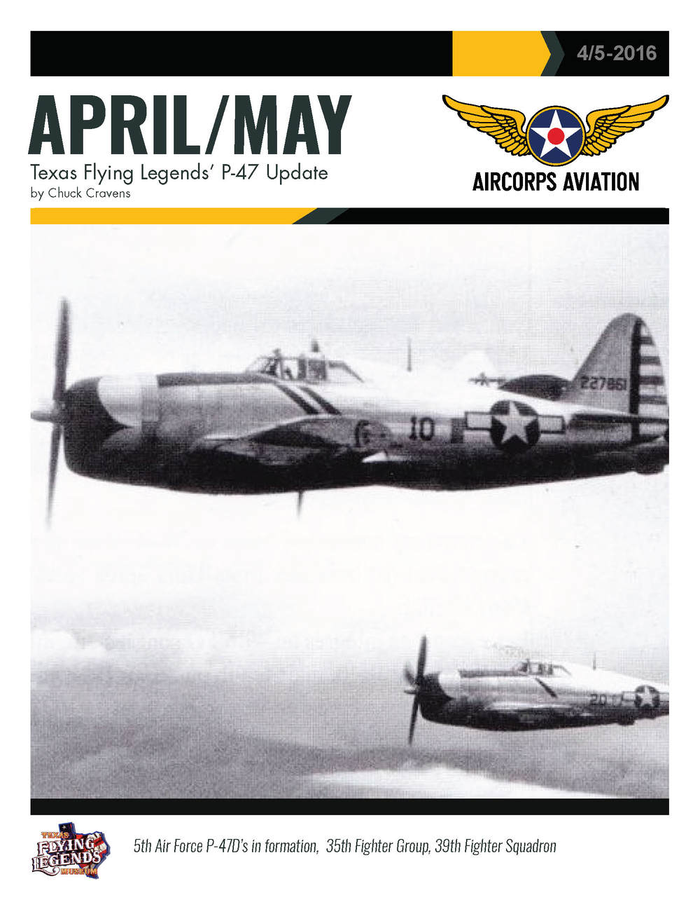 April/May Texas Flying Legends' P-47 Update Page 1