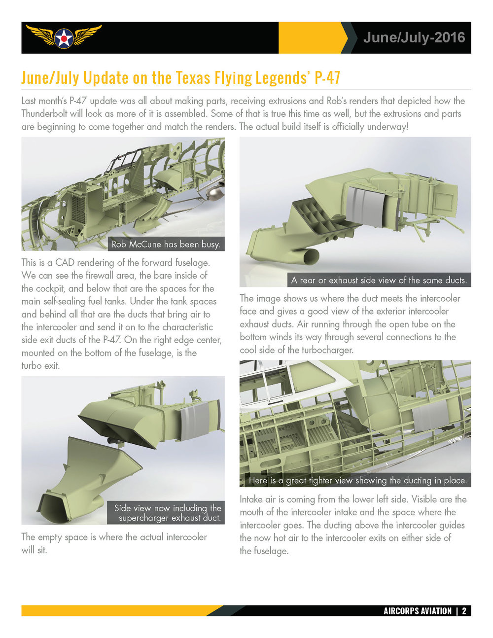 June/July Texas Flying Legends' P-47 Update