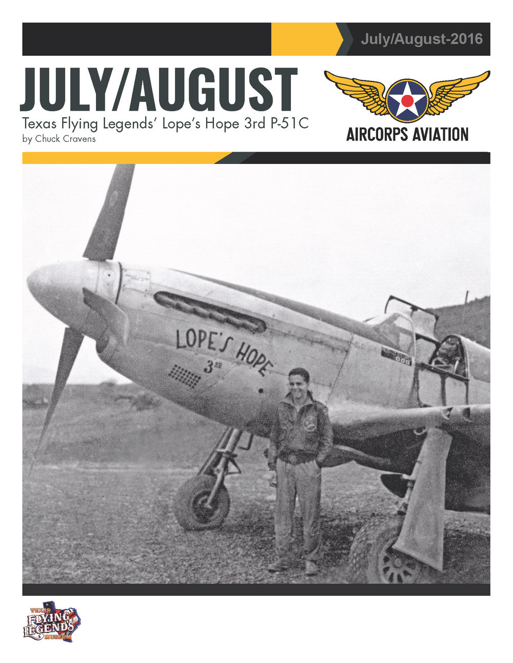 June/July Texas Flying Legend's Lope's Hope 1