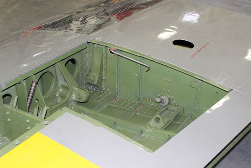 In this shot you can clearly see one of the rear gun mounts. Notice they are canted or tilted to the side.