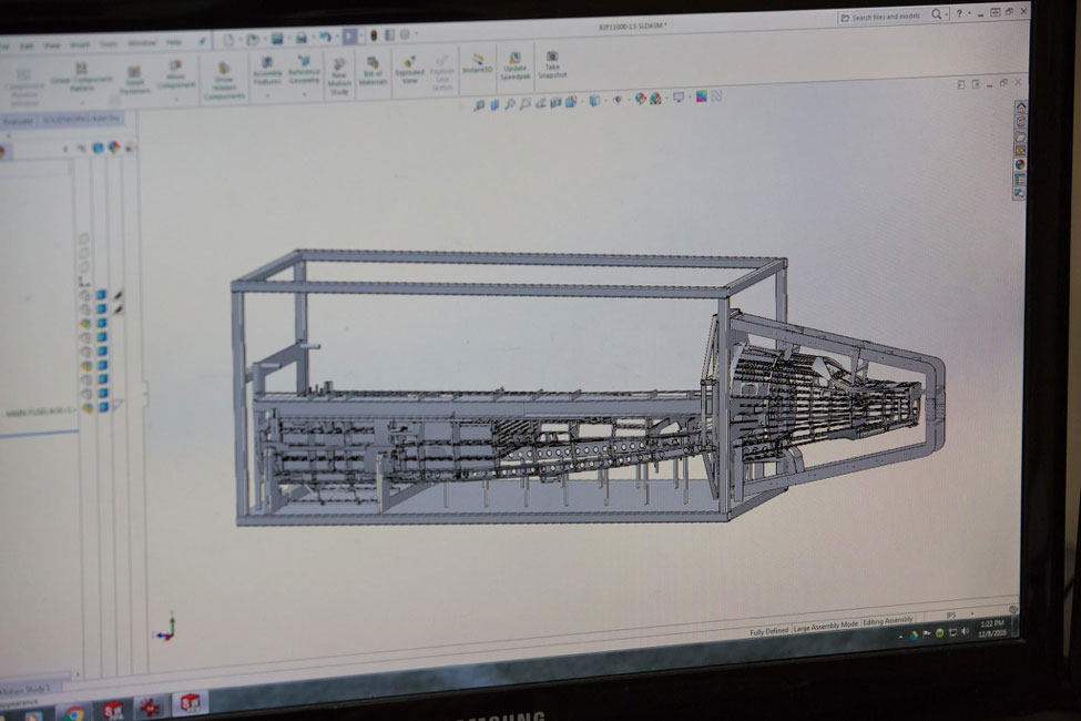 This CAD drawing shows the fuselage fixture we will be building.