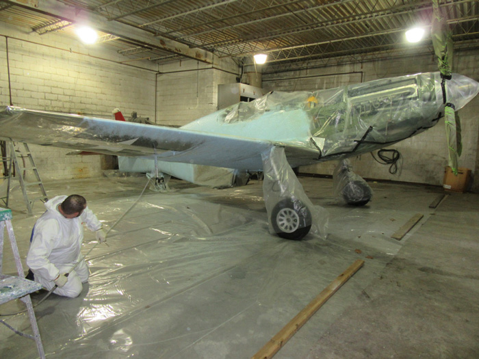 The Red Tail is airworthy but needs new paint, which Flying Colors Aviation of Benton Harbor, Michigan provided.(Flying Colors photo)