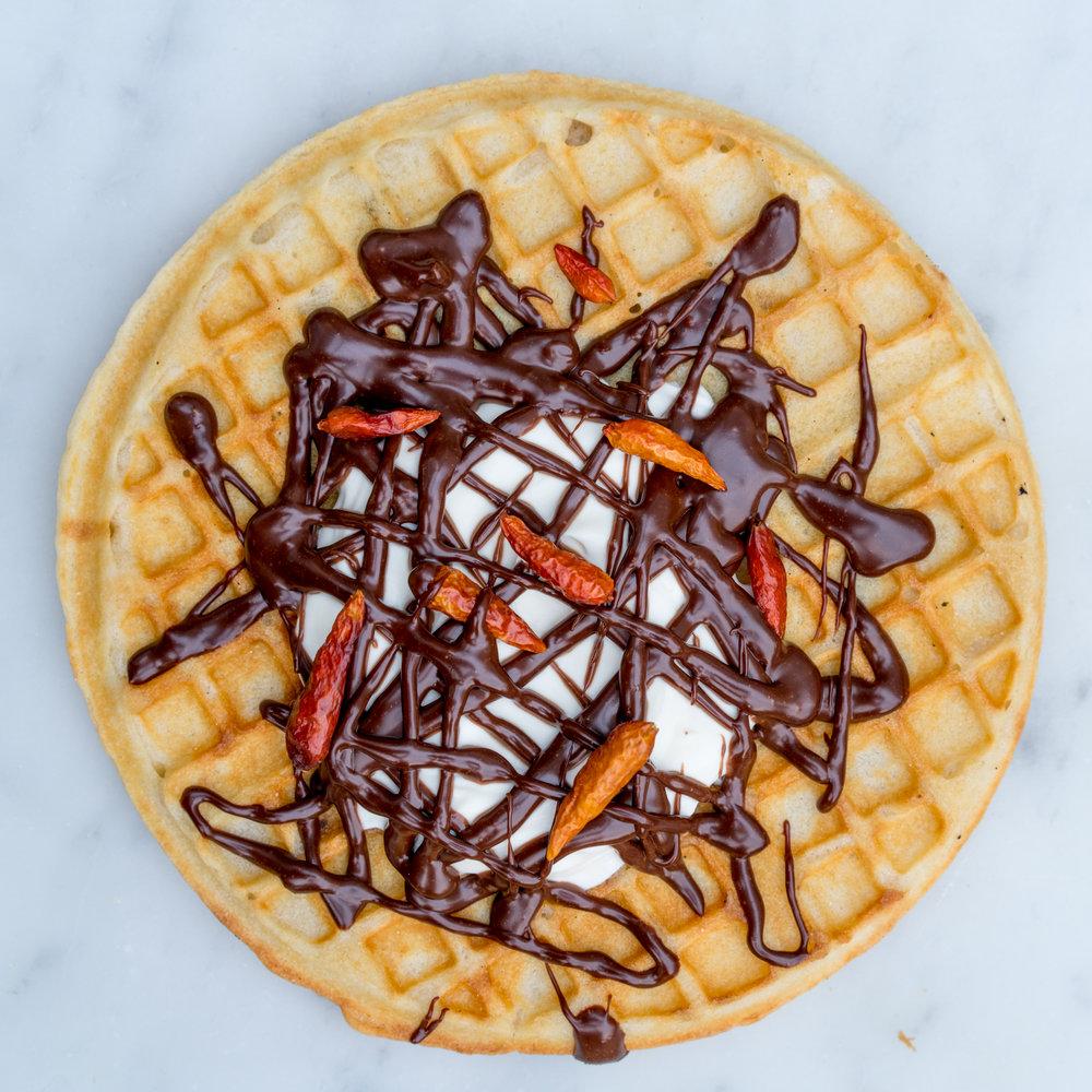Chilli chocolate &crème fraîche