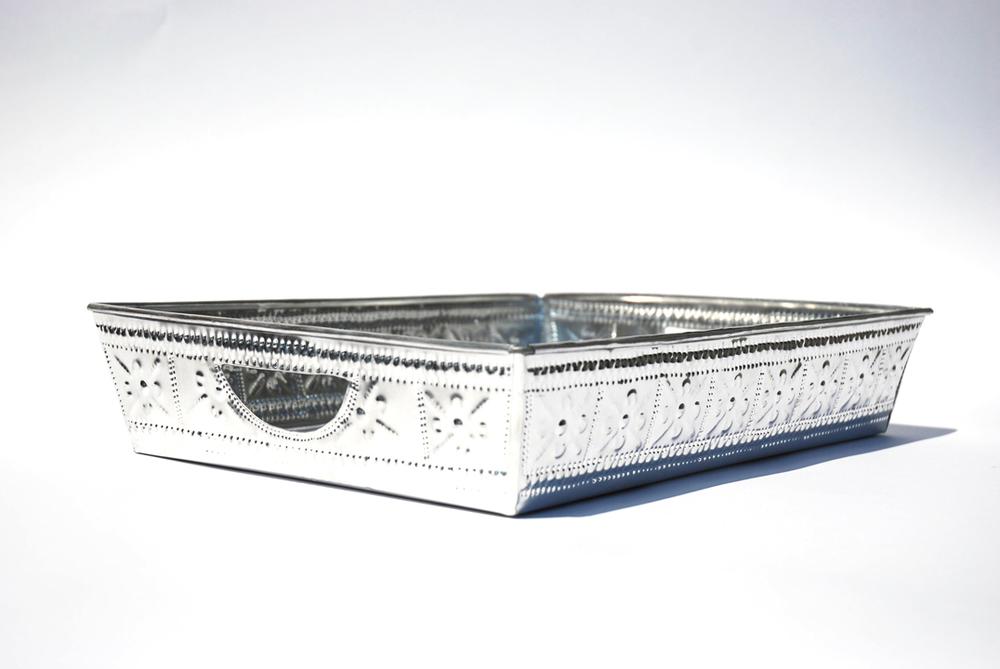 Silver Tin Tray