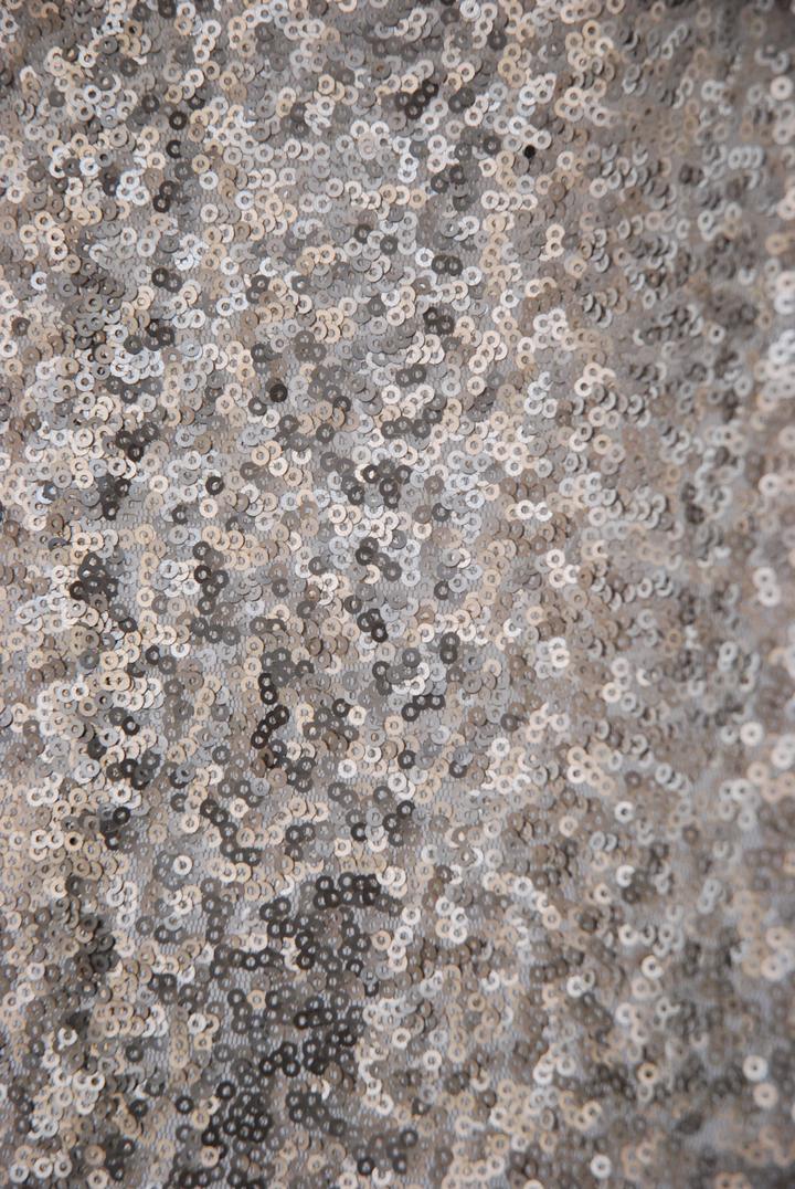 Matte Grey Sequins
