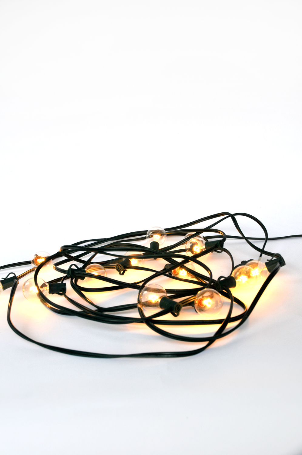 Offering a warm incandescent glow these string lights are great indoors or out. They come in 10 foot strands with 8 bulbs each.
