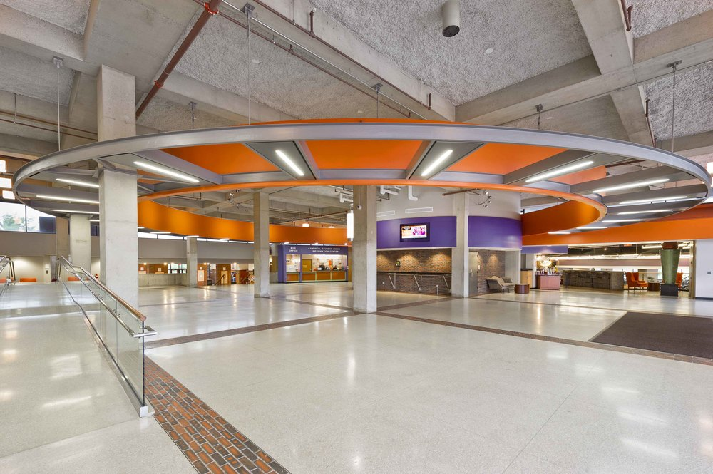 Buffalo State Main Lobby Campbell Student Union Bhnt Architects P C
