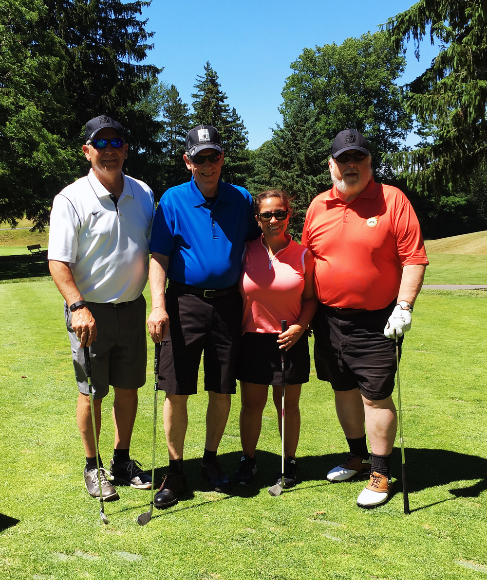 Pictured left to right: Rich Nardini, Dan Barton, Andrea Sauers & Bill Hovey